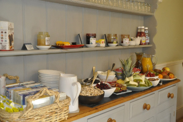 Healthy breakfast options at guest house in North Yorkshire.