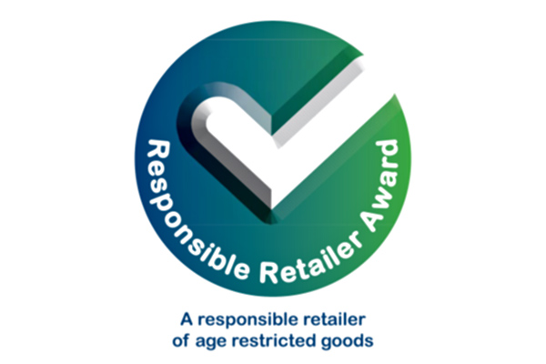 The responsible retailer award logo