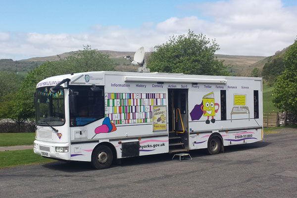 Supermobile library in North Yorkshire