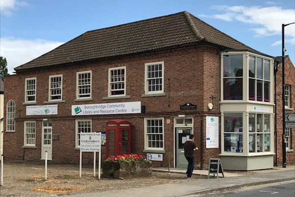 Boroughbridge community library outside