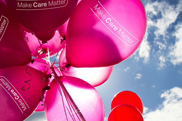 Make Care Matter balloons