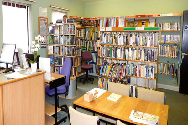 Inside Embsay-with-Eastby community library