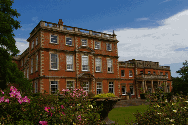 Outside of wedding venue Newby Hall
