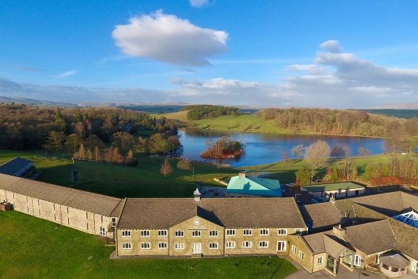 Coniston Hotel from an aerial view