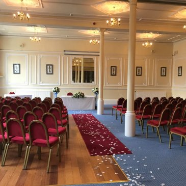 Wedding service layout at The Cairn Hotel