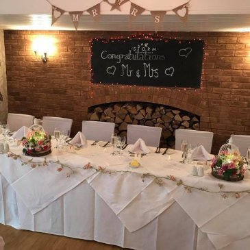 Bride and Groom table at Dower House Hotel