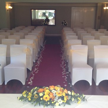 Wedding ceremony seating at Dower House Hotel