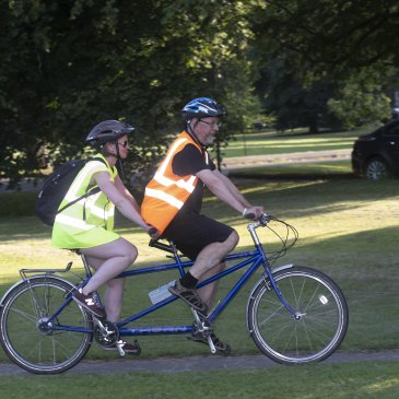 Tandem cyclists on an Open Country ride.