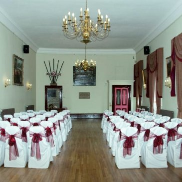 Wedding hall with furniture