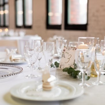 Dining table set for wedding