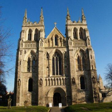 Selby Abbey, landmark near town hall