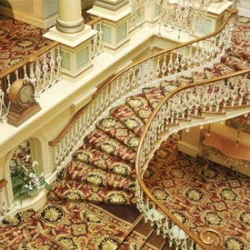 Grand staircase perfect for wedding photography