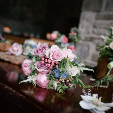 Floral decorations around the venue