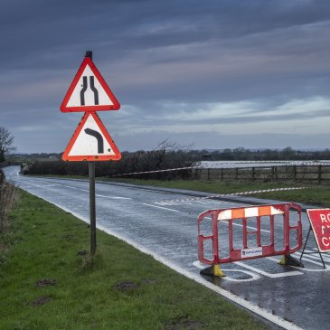 North Yorkshire road closed during floods