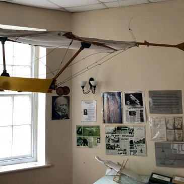 Glider replica in workshop