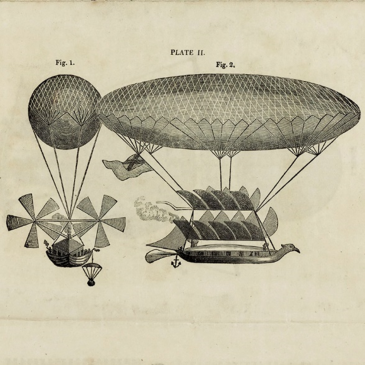 "Sketches of George Cayley's glider designs Pamphlet entitled ""Practical Remarks on Aerial Navigation"" by Sir George Cayley."
