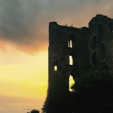 Sheriff Hutton Castle at sunset