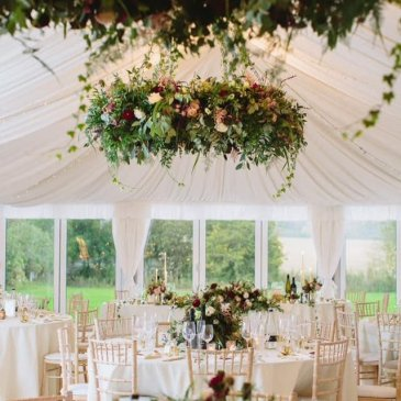 Marquee with beautiful floral decorations