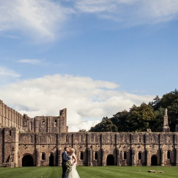 Fountains Abbey, perfect backdrop for wedding photos