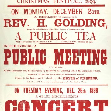 A poster for Reeth's Christmas tea