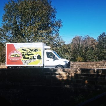 Vale of Mowbray van driving on bridge