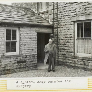 Dr Pickles outside his surgery in Aysgarth