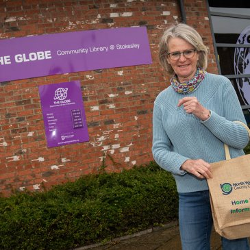 Pauline outside of The Globe at Stokesley