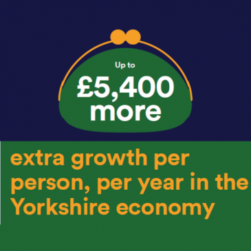 One Yorkshire devolution: £5400 growth per person, per year.