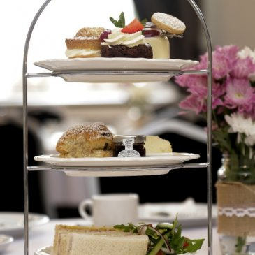 Photograph of an afternoon tea at the Croft Hotel