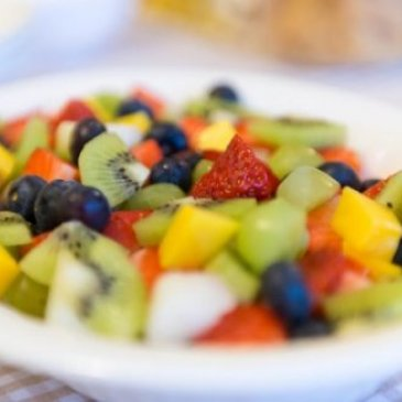 Photograph of a fruit salad served at The Old Town Hall