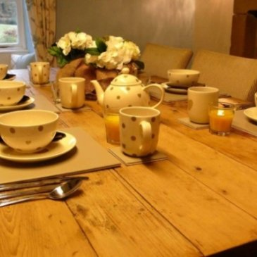 Photograph of dining table at Park House Country Guest House