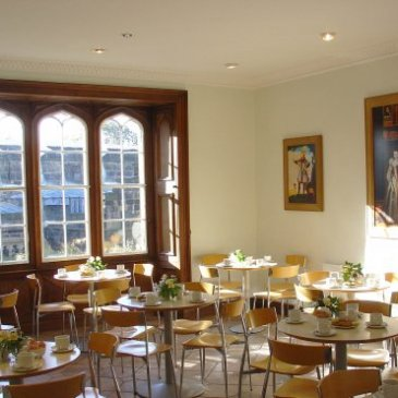 Photograph of the interior of Skipton Castle cafe