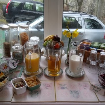 Photograph of breakfast bar at St. John's House