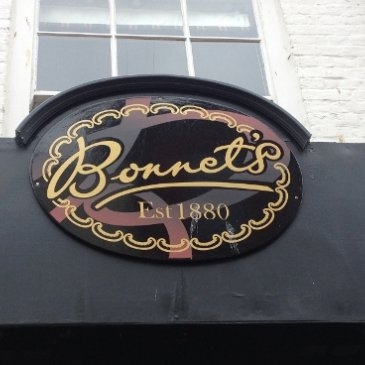 Photograph of the Bonnet and Son logo