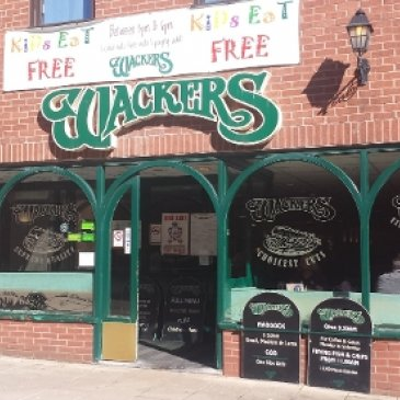 Photograph of the exterior of Wackers