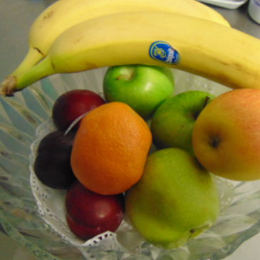 Photograph of fruit selection available at Carentan House Care Home
