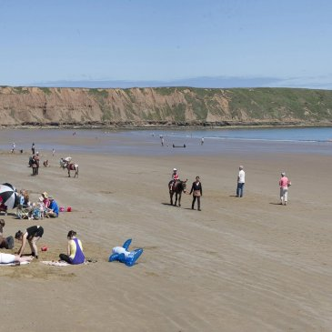Sandy beach at Filey