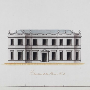 John Carr's elevation drawing for Thornton Hall, now a nursing home in Thornton le Dale.