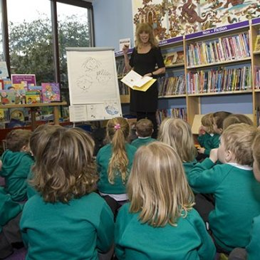 Storytime at a library in North Yorkshire.