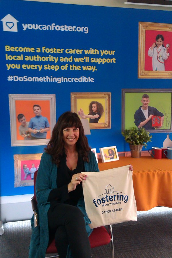 North Yorkshire foster carer at Foster Care Fortnight event.