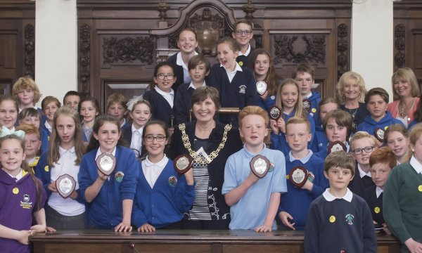 North Yorkshire primary school children participated in a debate in the county council chambers.