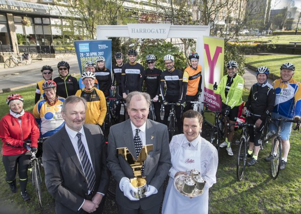 The Tour de Yorkshire Trophies were welcomed to Harrogate with open arms when they visited this week.