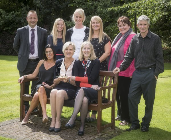 Seated, from left, Vicky Metheringham, the County Council's Head of Safeguarding and Looked After Children, Lorraine Fox, of Harrogate and District NHS Foundation Trust and Heather Pearson, NYCC Safeguarding unit manager. Standing, first left, Allan Harder of North Yorkshire Police, with members of the MAST team.