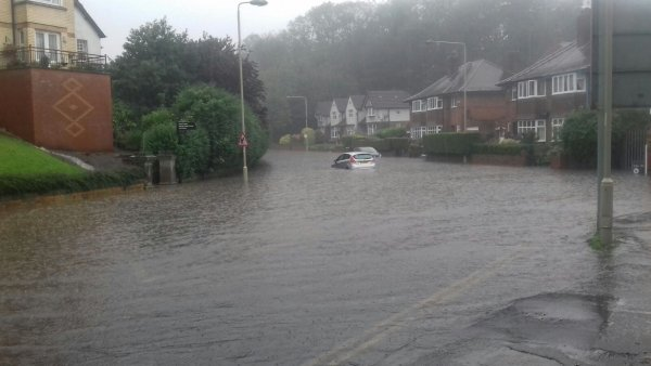 flooding in Westbourne Grove, Scarborough