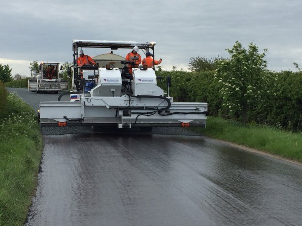 This year's surface dressing programme treated about 500 miles of road