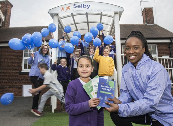 launch of Selby Trails at Selby Community Primary School