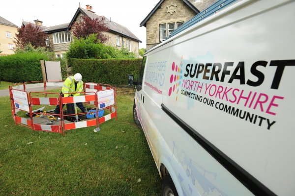 Eeighty-nine per cent of premises of premises in the county can receive superfast broadband