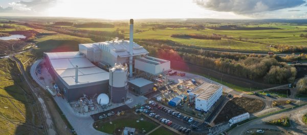 An aerial view of Allerton Waste Recovery Park