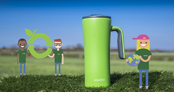 recyclable cup cartoon