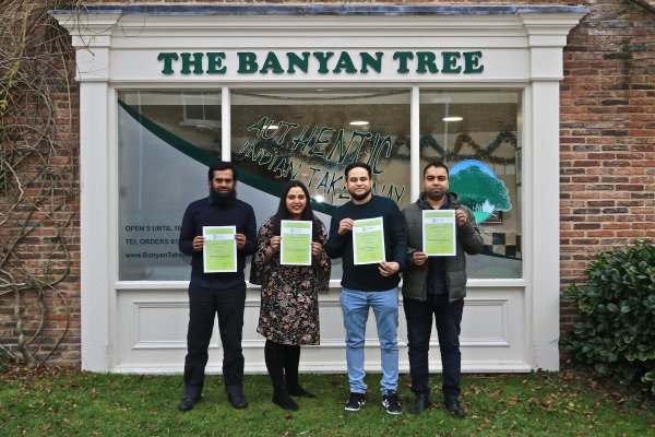 Banyan Tree staffs with their certificates after completing the training